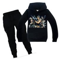 çocuklar için karakter hoodies toptan satış-Oyun Iki haftada Karakter Çocuk Giysileri Set 3d Baskı Hoodies Tişört + Pantolon 2 adet Erkek Kız Set Tişörtü 6-14Y Çocuklar Pantolon Y1892605
