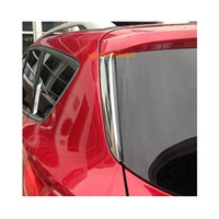 ABS Chrome Rear Window Triangle Cover Trim 2pcs for Ford Explorer 2011-2018