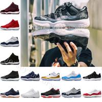 venda de sapatos de basquete feminino venda por atacado-2018 Barato 11 Bred Mens Womens Ginásio Vermelho GS Meia-Marinha Da Marinha 'Win Like 82' Cobalt Sneakers IE Basquete calçados Esportivos original para venda raça 11