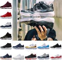 venta de zapatos de baloncesto para mujer al por mayor-2018 Barato 11 Bred para mujer gimnasio rojo GS Midnight Navy 'Win Like 82' Zapatillas Cobalt IE Basketball calzado deportivo original para la venta criado 11