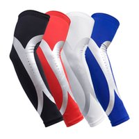 Wholesale sleeve extender - Basketball Arm Guard Sleeve Arm Warms Anti-shedding Support Extender Sport Elbow Protector Energy Accessory Free Shipping G318S