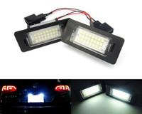audi führte licht a4 großhandel-2 stücke Auto teile licht 24 SMD 12 V LED lizenz nummernschild lampe für AUDI A4 B8 S4 A5 S5 Q5 angewendet