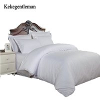 Wholesale bedding sets silk satin purple for sale - Kekegentleman Satin Stripe Solid Color Bedding Sets Home Textiles Duvet Cover Flat Bed Sheet Pillowcase cotton