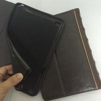 portadas de libros de cuero vintage al por mayor-Book Style Leather Wallet Case para Apple Table Ipad 2 3 4, Air 5 Air 2 6 7 9.7 pulgadas Retro Ancient Vintage Old Flip Skin Funda para bolso