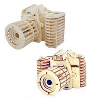 Wholesale Build Wooden Train - Building Blocks 3D Children Puzzle Assemble Wooden Camera Design Toys Creative Handmade Training Educational Toy Gifts Hot Sale 8 63mz2 Z