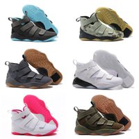 Wholesale general shipping - FREE SHIPPING Zoom Soldier 11 Igloo Kay Yow Green Camo Court General Grey Gum Military Themed Mens Basketball Shoes Sneakers
