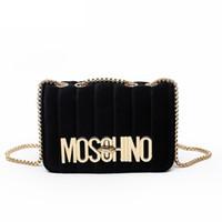 Wholesale diagonal zipper - 2018 new Women's chain shoulder crossbody bag diagonal leisure fashion letters small square trendy handbags bolsa feminina
