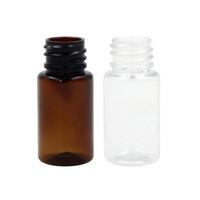 viales para aceites esenciales al por mayor-50 unids 5 ML / 10 ML Mini Vacío Pequeño Animal Doméstico Esencial Bole Ámbar Mini Vidrio Ámbar / Muestra transparente Vial Pequeño Aceite Esencial