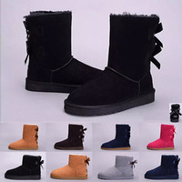 Wholesale tall high woman boots for sale - WGG winter Australia Classic snow Boots High Quality tall boots real leather Bailey Bowknot women s bailey bow Knee Boots shoes