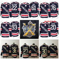 Wholesale New Ladies - 36 Mats Zuccarello 2018 Winter Classic New York Rangers Men Lady Youth Shattenkirk Zibanejad Lundqvist McDonagh Skjei Messier Hockey Jersey