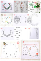 Wholesale Free Photography Backgrounds - Free DHL newborn baby photography background props baby photo fabric backdrops infant blankets wrap letter flower numbers print cloth A08