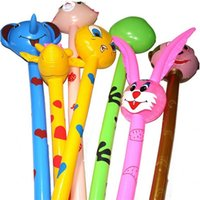 ingrosso ferite animali-Cartoon Animal Long Gonfiabile Martello No Wounding Arma Divertimento Strike Rod Bambini Gonfiabili Bambino Interesse Coltivazione 2 25cy W