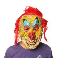 Wholesale latex rubber costume resale online - Hanzi_masks Rooster Mask Halloween Prop Carnival Latex Rubber Chicken Head Masks Costumes Fancy Dress Party Supplies