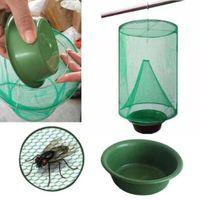 trampa de jaula al por mayor-Fly Kill Pest Control Trap Tools Reutilizable Fly Catcher Killer Flytrap Zapper Cage Net Trap Jardín Suministros Killer-vuela CCA9970 50pcs
