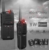 jambon telsiz portatif telsiz toptan satış-(2 adet) KSUN X-30 el walkie talkie taşınabilir radyo 8 W yüksek güç UHF El Iki Yönlü Ham Radyo Iletişimci HF Telsiz