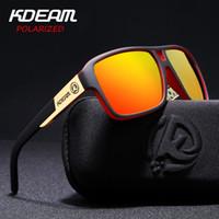 markalar sabit diskler toptan satış-KDEAM Polaroid Gözlük Erkekler Spor gözlük Hard case Kare Güneş Gözlüğü kadın Marka Sürüş Polarize Gözlük Ile Açık KD520