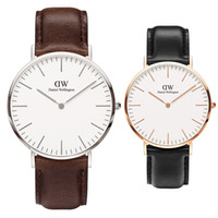 en iyi spor saati toptan satış-Reloj de pulsera daniel lüks erkek saatler erkekler kadınlar 36 40mm moda altın wirstwatches En İyi askeri kalite bayanlar adam spor saat