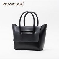 кожаная сумка оптовых-Viewinbox Mini Tote Bag Women's  Soft Cattle Leather Small Handbags Casual Style Crossbody Messenger Bag
