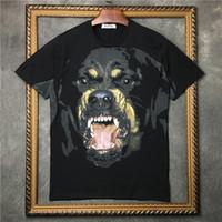 Wholesale rottweiler tee - 2017 Luxury brand tag clothing men 3D Rottweiler animal print t-shirt cotton t shirt women tee tops Camisa Masculina men Designer tshirt