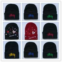 chapéu de hiphop coreano venda por atacado-Novo Design Blingbling Beaines Quebrando cabelo Bad Hair Day chapéus de lã hiphop chapéus Coreano de malha homens e mulheres outono e inverno chapéu