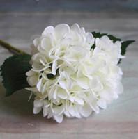 ingrosso fiori singoli rosa falsi-Artificiale fiore di ortensia 47 centimetri falso seta singolo tocco reale ortensie per centrotavola matrimonio fiori decorativi festa in casa GA15