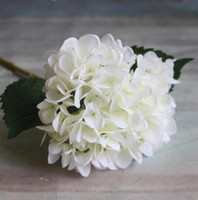 suni ortancalar toptan satış-Yapay Ortanca Çiçek 47 cm Düğün Centerpieces için Sahte Ipek Tek Gerçek Dokunmatik Ortancaların Ev Partisi Dekoratif Çiçekler GA15