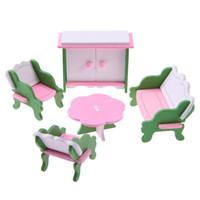 ingrosso bambino miniatura della bambola della casa-VENDITA CALDA 1 set bambino in legno casa delle bambole mobili casa delle bambole in miniatura bambino gioca giocattoli regali # 11