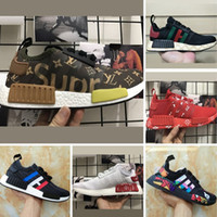 Wholesale Graffiti Hard - 2017 Boost R1 Runner x Jointly and Kaws Graffiti Running Shoes Runner R1 PK Knitting and Mesh Boost Casual Sneakers