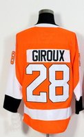 Wholesale Mens Discount White Shirts - Discount Cheap 2018 NEW 17 SIMMONDS 53 GOSTISBEHEPE 28 GIROUX Hockey Jerseys shirts TOPS,personality MENS Sports Training Hockey Wear TOPS