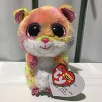 gros jouets saint valentin achat en gros de-souris rodney avec étiquette de coeur et étiquette TY BEANIE BOOS 1PC 15CM 6