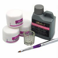 Wholesale Nails Design Powder - Acrylic Manicure Set Nail Powder Liquid 120ml For Powder Deppen Dish Nail Art Set Acrylic Nails Design Manicure Art Tools Set