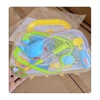 Wholesale kits pretend toys for sale - Group buy Play Doctor Kit Medical Toys Pretend Doctor Kit Prentend Play Toys Interesting for Children Blue Green Random allocation Hot Sale