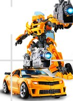Wholesale robots movie toys online - Transformation toys Alloy deformation toy King Kong Optimus Hornets car robot model deformation children gift