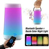 Wholesale colour portable speakers for sale - Group buy Dazzle Color Night Light Portable Wireless Bluetooth Speakers Colour Change Intelligent Surround Sound With Mic For Mobile Phone Packing
