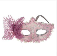 Wholesale girls butterfly mask - Fashion 2018 Sexy Ball Butterfly Mask Mask for Girls Women Masquerade Dancing Party Beautiful half face Mask Hot Sale