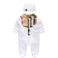 Wholesale baby jumpsuit for sale - Newborn Baby Clothes Babyworks One Pieces Baby Romper Infant Boys Girls Long Sleeve Jumpsuits Clothing Baby Rompers