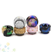 Wholesale flowers bears - 19 holes filter Drip Tip Wide Bore Drip Tip Heat insulation Buttons Style Epoxy Resin 810 Drip Tip Flower Mouthpiece DHL Free