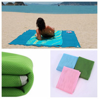 Wholesale wholesale padding - 200*150cm Sand Free Beach Mat Sandless Slip Beach Mat Portable Travel Camping Pad Household Children Play Mat DDA427