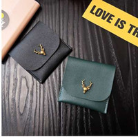 Wholesale western style clutches resale online - WESTERN AUSPICIOUS New Year Gift Girl Wallets Pu Leather Wallet Female Green Black Purse Large Capacity Card Holder