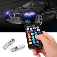 Wholesale turn bulb online - 2pcs pair T10 Remote Control Car Led Bulb Smd Multicolor W5w Side Light Bulbs
