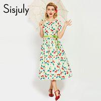 08897dd83dcb3 Le donne dell annata degli anni 50 di Sisjuly vestono il perno di lusso  bianco di stile del partito sul vestito elegante da lavoro dal vestito  floreale ...