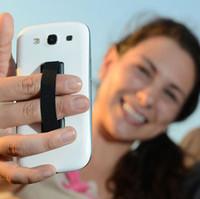 soporte para dispositivo móvil al por mayor-En Stock banda elástica pegado a la correa del teléfono móvil Touch Holder Finger Ring handle dispositivo sling grip universal envío rápido