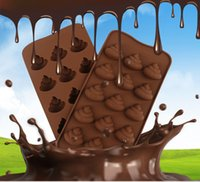 Wholesale Chocolate Bar Cake - 3D Poo Faeces Shaped Chocolate Candy Mold Silicone Mould Cake Tools Bakeware Pastry Bar Soap Mold YYA1026