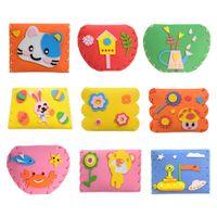 ingrosso puzzle adesivo eva diy-Adesivo in schiuma EVA 3D fai da te Cartone animato per bambini Portafoglio Borsa Puzzle Giocattolo artigianale per bambini Kit per bambini Giocattoli per l'apprendimento precoce