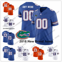 florida jerseys großhandel-Benutzerdefinierte Florida Gators 2018 New College Football königsblau orange weiß genäht beliebige Name Nummer # 13 Franken 81 Aaron Hernandez Trikots S-3XL