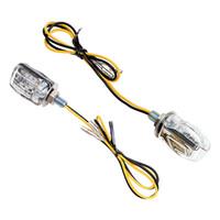 luz ámbar de flash al por mayor-M03-049 Indicador de luz de señal de giro de la mini motocicleta 6 Indicador de luz intermitente de LED / Señales de giro de Moto negro Luz intermitente de color ámbar DC 12V