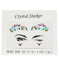 Wholesale lips tattoos for sale - New Arrival D Rhinestone Face Body Jewelry Stick On Crystal Tattoo Nipple Crystal Body Gem Stones Bindi Stickers Adhesive Face Eye Gems