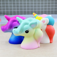 Wholesale horse cartoons for sale - Group buy Cartoon Unicorn Squishy Squeeze Toy Novelty Cute PU Flying Horse Squishies Decompression Toys Children Gift New dy C