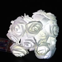 Wholesale Fairy Supplies - Fashion Romantic Light Strings Waterproof Multi Colors Decorative Supplies 10 LED Rose Flower Fairy String Lights Popular 7cx B