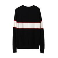 женские свитера пуловеры оптовых-Черный роскошный бренд свитера для мужчин мода с длинным рукавом Письмо печати пара свитера осень свободные пуловеры свитера для женщин бесплатная доставка